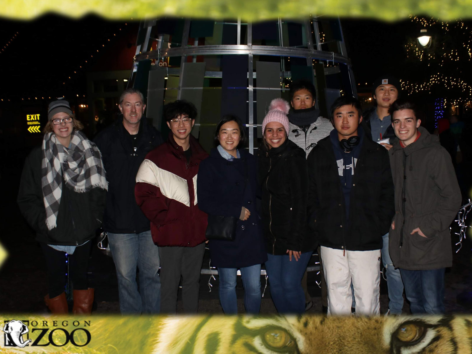 International Students at Zoo Lights