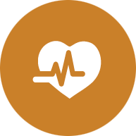 Health Professions EFA icon logo, a pulse symbol over a heart