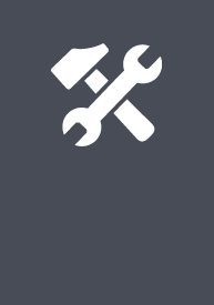 Industrial Technology + Automotive EFA icon logo, a wrench and hammer