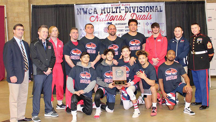 CCC wrestling breaks national meet record