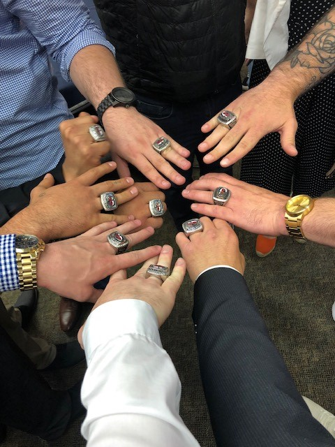 Wrestling team's championship rings