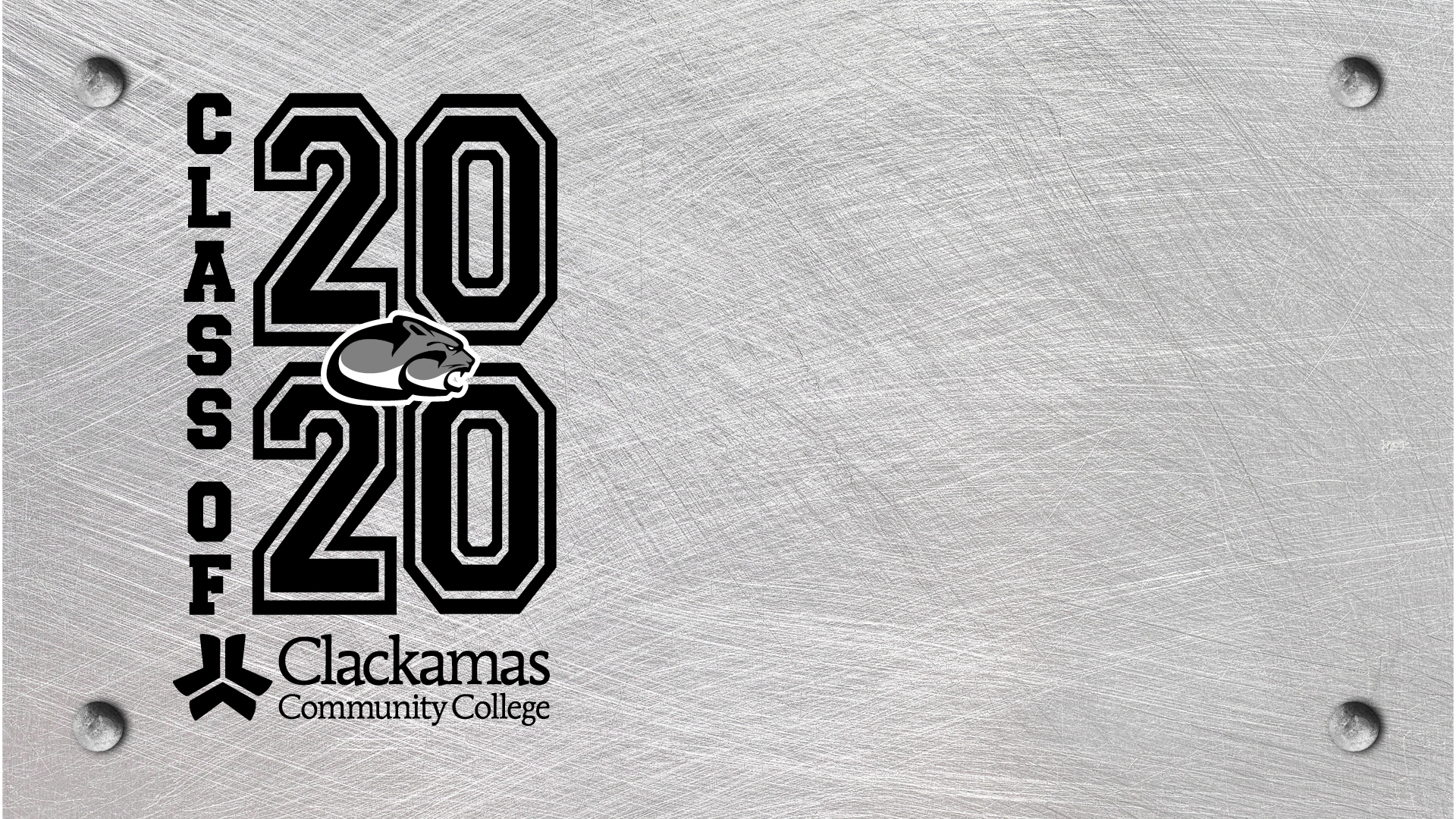 Zoom background of Class of 2020 black-and-white stencil